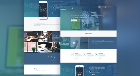 Boxify One Page Website Html Template Free