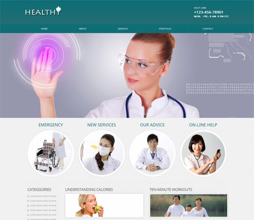 Hospital- doctor Bootstrap