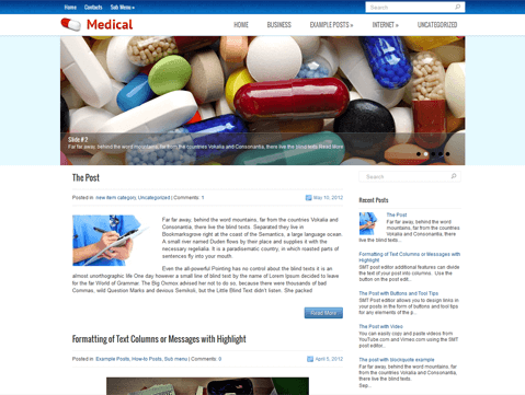 Medical website templates WordPress