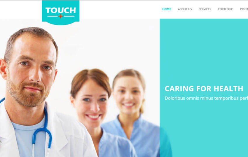 Touch Hospital Medical Bootstrap