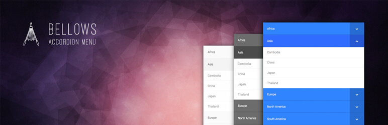 Bellows Accordion Menu