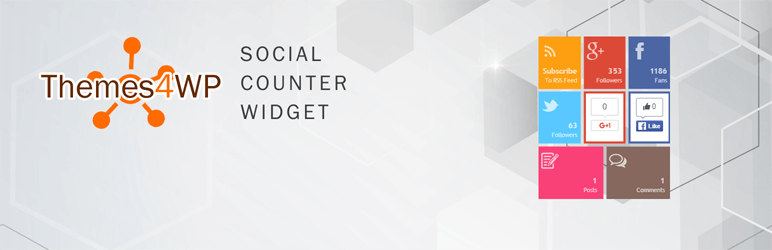 Themes4WP Social Counter Widget