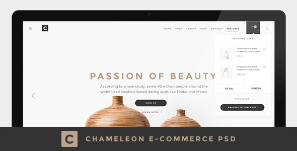 Chameleon Shop PSD Template