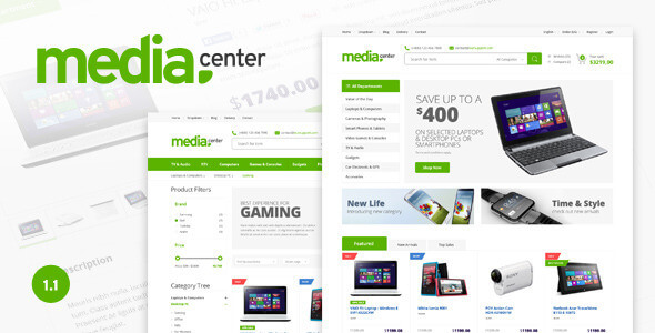 Media Center - Electronic eCommerce PSD Template