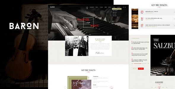 Baron - Music PSD Template