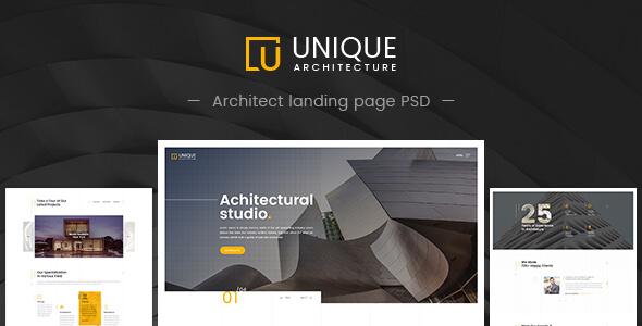 Unique - Architecture & Interior PSD Template