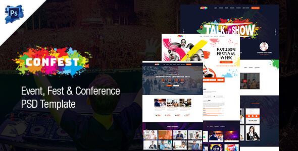 ConFest - Multi-Purposes Event and Conference PSD Template