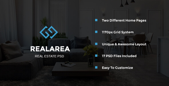 RealArea - Real Estate PSD Template