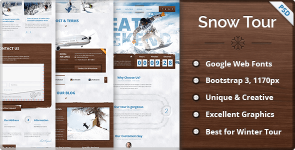 Snow Tour - Responsive Winter Travel Landing Page