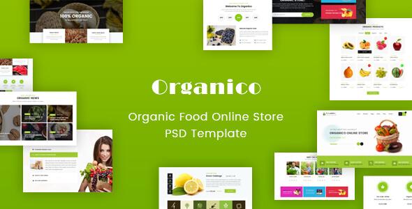 Origanico - Organic Online Store PSD Template