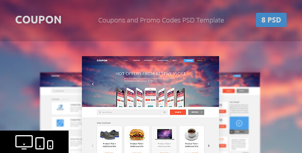 Coupon - Coupons and Promo Codes PSD Template