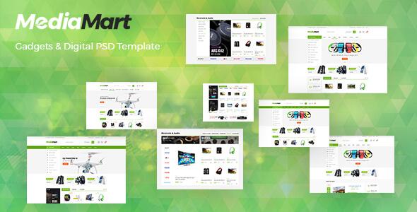 MediaMart - Gadgets & Digital PSD Template