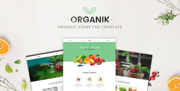 Organik - Organic store PSD Template
