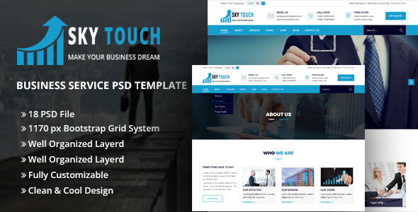SKY TOUCH - Business PSD Template