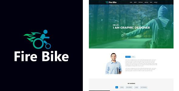 Fire Bike Personal Portfolio PSD Template