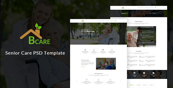 Bcare - Senior Care PSD Template