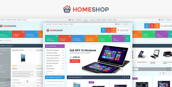 Home Shop - Retail PSD Template