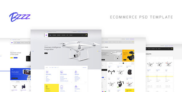 Bzzz - Gadgets eCommerce PSD Template