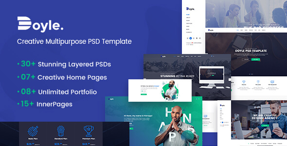 Doyle - Creative Multipurpose PSD Template