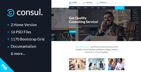 Consul - Business & Training PSD Template