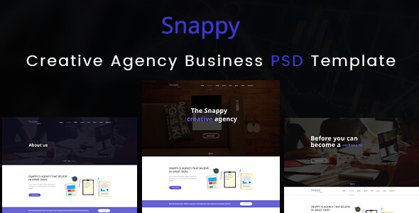 Creative Agency Business PSD Templates