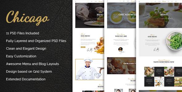 Chicago - Multi-Purpose Restaurant PSD Template