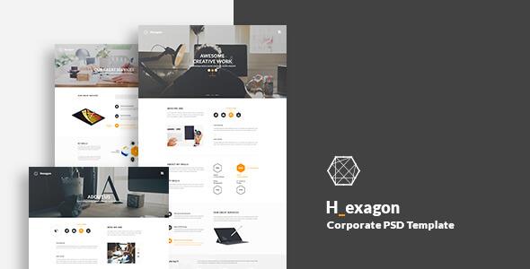 Hexagon - Corporate PSD Template