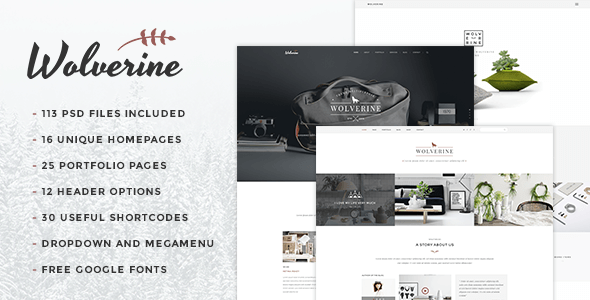 Wolverine - Multipurpose PSD Template