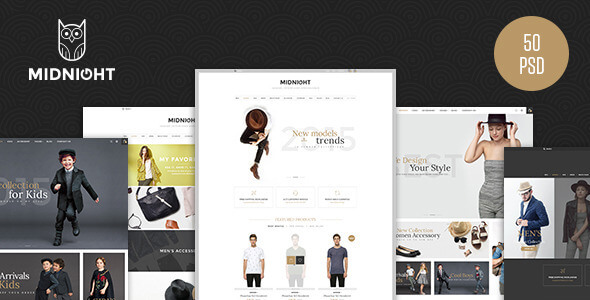 MidNight - Fashion eCommerce PSD Template