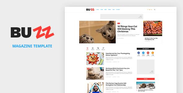 BUZZ - News, Magazine, Viral & Buzz PSD Template