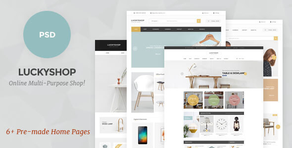 LuckyShop - Multi-Purpose PSD Template