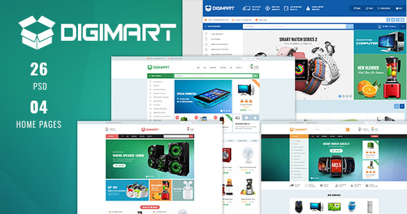 Digimart - Ecommerce PSD Template