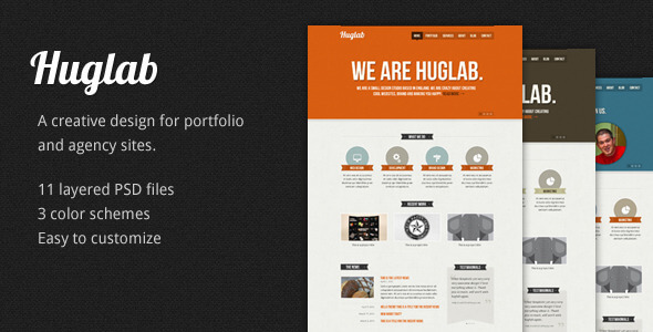 Creative Zone - Single Page PSD Template