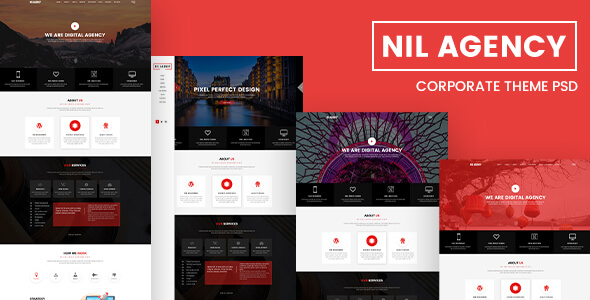 Nil Agency - Creative Agency PSD Template