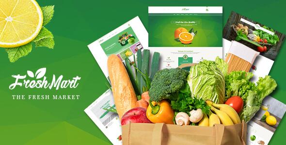 FreshMart - Organic Food PSD Template