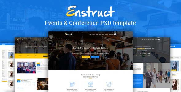 Enstruct - Events & Conference PSD Template