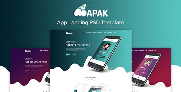 Apak - App Landing PSD Template