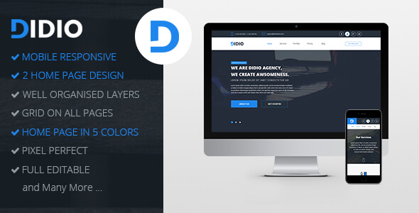 Didio | Responsive Agency PSD Template