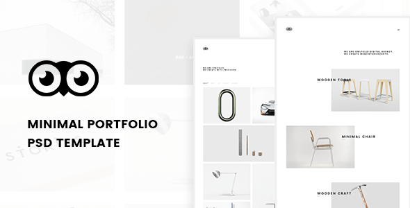 Owlfolio - Creative Portfolio PSD Template with PSD Files