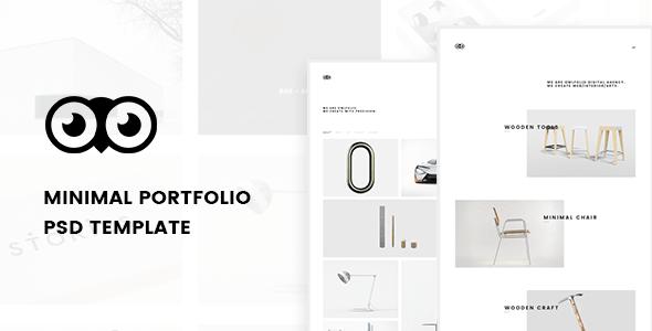 Owlfolio - Creative Portfolio PSD Template with PSD Files