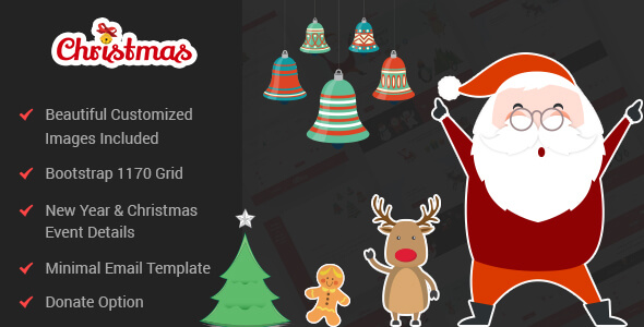 Christmas & New Year PSD Template