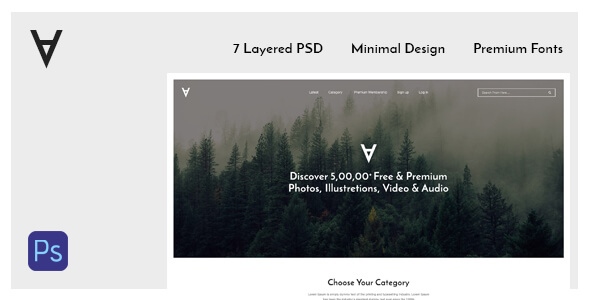 Ufa Portfolio & Photography PSD Template