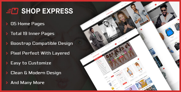 Shop Express PSD Template