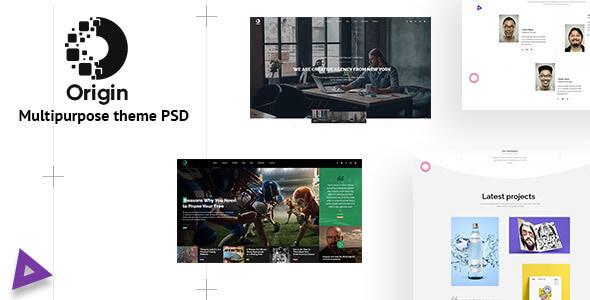 Origin - Minimal and Creative for Multipurpose Psd Template