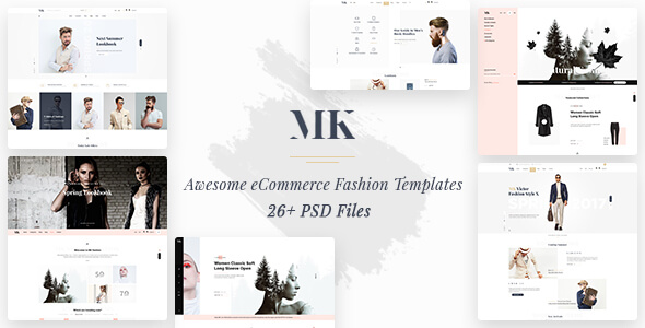 MK Shop - Awesome eCommrece Fashion PSD Template