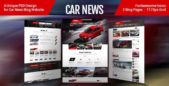 Car News - PSD Template