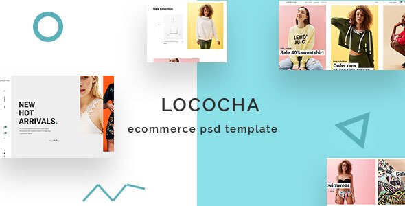Lococha - Expert eCommerce PSD Template for Fashion Stores