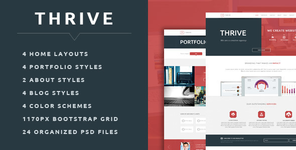 Thrive - Multipurpose Creative PSD Template