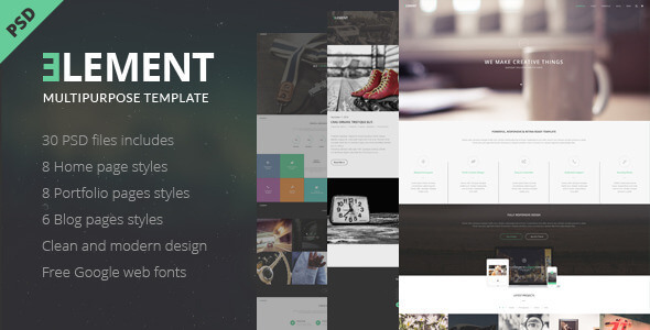 ELEMENT - Multipurpose PSD Template