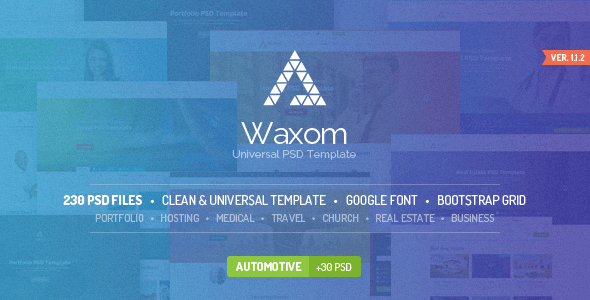 Waxom - Clean & Universal PSD Template